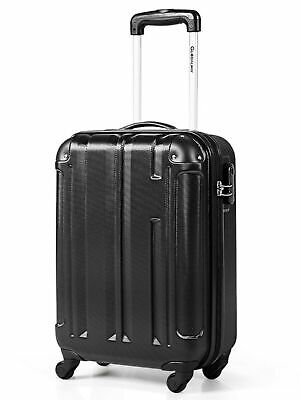 18'' ABS Luggage Suitcase Carry On Lightweight Hardshell 4-Wheel Spinner Black