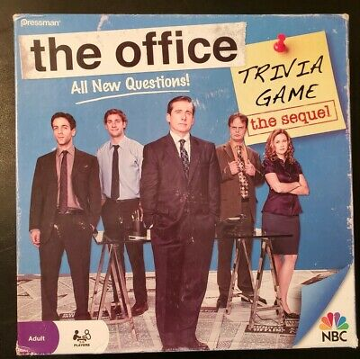 The Office Trivia - The Sequel Board Game - Pressman Dunder Mifflin - Incomplete