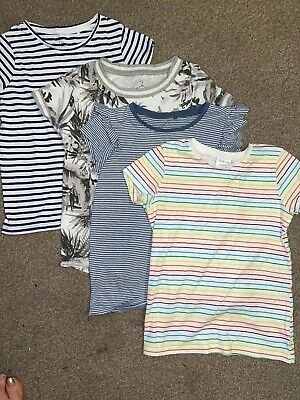 girls clothes Bundle Age 8-9 Years Next X3 F&F X1 T-shirt Tops Print