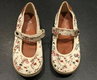 Size4 Plimsolls White With Flowers From Next