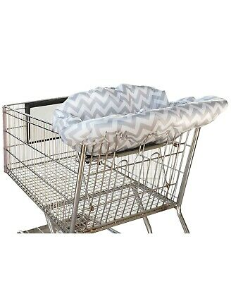 Itzy Ritzy Shopping Cart & Highchair Cover for Baby Grey and White