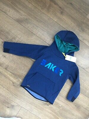New Ted Baker Boys Blue Logo Jumper Hoodie Size 4-5 Years