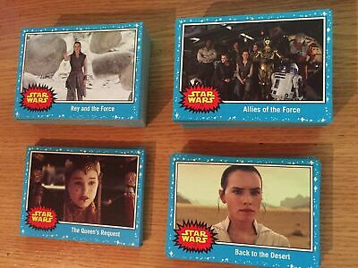 Star Wars Journey To The Rise Of Skywalker Set Blue Base 110 CARDS  Topps