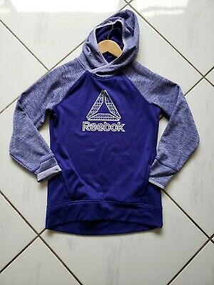 Reebok Girls Athletic Pullover Fleece Lined Sweater Hooded Size Large 14