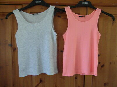 Matalan used ( 2 tops ) Size 12 years 1peach 1 grey in colour