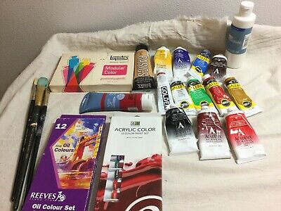 Lot Of Liquitex And Other Brands Acrylic Paints