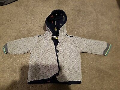 Ted Baker Quilted Grey Boys Jacket 9-12months