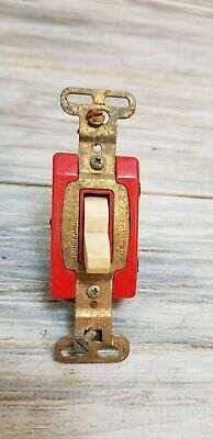 Vintage Sierra Corp. Electric Light Switch Red  USA