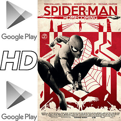 SPIDER-MAN: HOMECOMING ~Digital HD Google Play UK+Ireland Code~Marvel Comics MCU