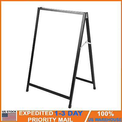 Double Side Sidewalk Pavement A Frame Sandwich Board Menu Sign Holder Display US