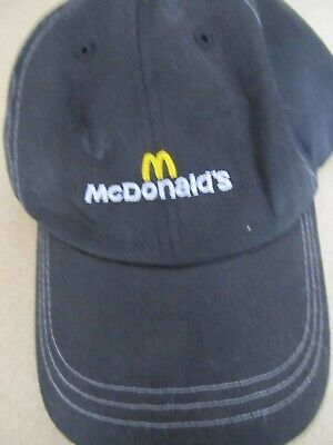McDonalds McDonald's crew cap black Golden Arches strap back