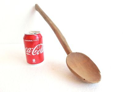 "18.50"" Antique PRIMITIVE Hand Carved LARGE Spoon Ladle Scoop Wooden 1pc wood"