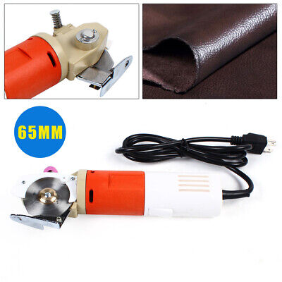 Electric Cloth Cutter 65MM Fabric Leather Cutting Machine Round Scissors  Blade