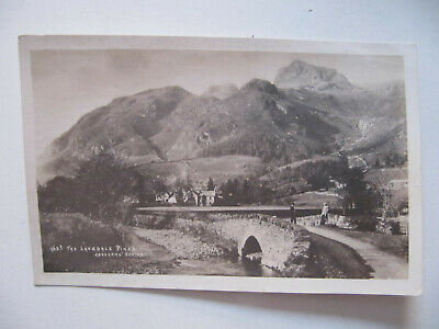 The Langdale Pikes (Lake District) - Vintage Abraham Real Photo Postcard