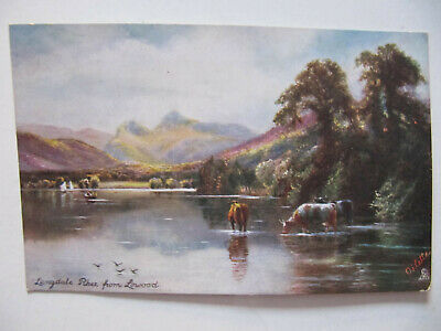 Langdale Pikes from Lowood (Lake District) - Tuck's Oilette Postcard (1906)
