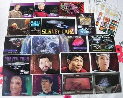 32 Star Trek Insert/Chase, Survey & Promo Cards-Including 3D Motion Cards