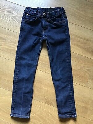 Boys H&M 8/9 yrs slim fit dark blue jeans, good condition