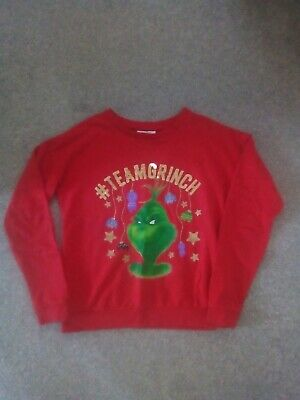 Child's Christmas Jumper Grinch age 14 years. Only Worn Once.  Immaculate.