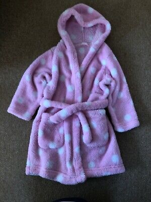 Girls M&S Pink Dressing Gown 2-3 Years