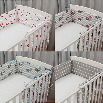 BUMPER COT COTBED BABY BEDDING INFANT 120x60 140x70 NURSERY SET 100% COTTON