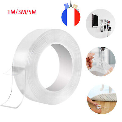 1M 3M 5M Nano Magic Tape Double-Face Antislip InvisibleAdhésif Gel Ruban FR