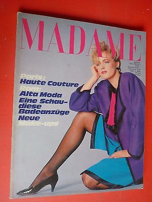 Madame Zeitschrift Marz March 1983 n°3 Vintage Fashion High Moda Paris ROM RAR