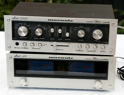 Marantz 3200 Pre Amp and 140 Power Amp. With phono stage. Great condition