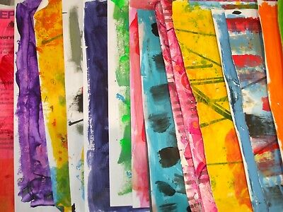 20 x Original Hand Painted Papers A4 size for Collage and Arts & Crafts Projects