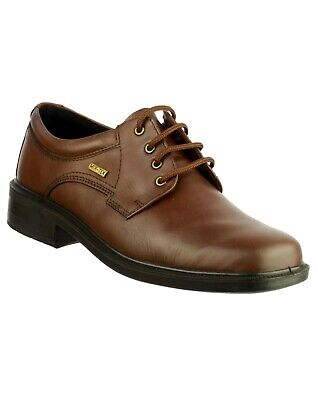 Cotswold Sudeley brown leather waterproof lace up shoe