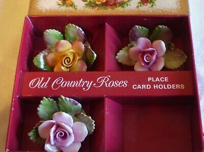 Royal Albert Old Country Roses 3 Place Card Holders