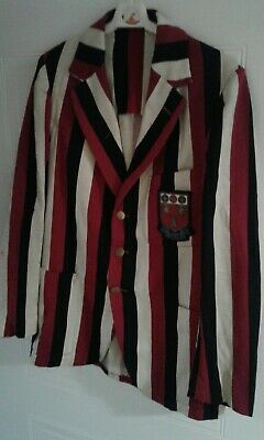 vintage 1940s ROYAL GRAMMAR SCHOOL NEWCASTLE  boating jacket with school emblem