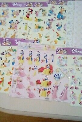 10 Disney Decoupage Sheets Plus 3 Backing Papers & 8 Vellum + 5 Rock Hard Faries