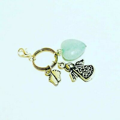 Baby Loss Memorial Charm Keyring Miscarriage/Stillborn Angel Memory Keepsake