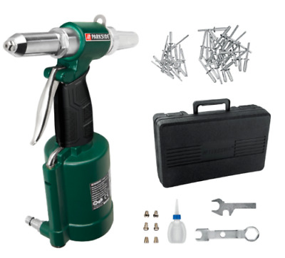 Parkside Air  Blind Rivet  Gun PDBNP 14 A1 & accessories NEW!!!