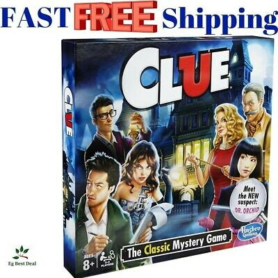 Clue Mystery Game Board Games Classic Hasbro Vintage Guess Who Solve The Mystery