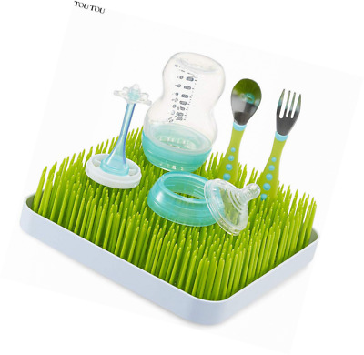 Baby Bottle Drying Rack, TOUTOU Large Dish Grass Anti-Bacterial Countertop Stora
