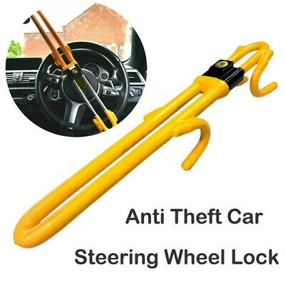 Extendable Car Trailer Truck Steering Wheel Lock Anti-Theft Security Clamp & Key