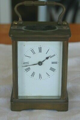 Antique Small French Brass Carriage Clock- Made In France