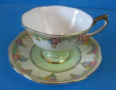 Royal Albert Crown China Cup & Saucer Excellent Condition Pre 1936