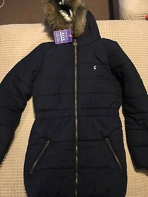 Joules Belmont Girls Navy Parka 11-12 Years New With Tags