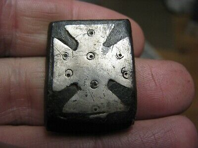 Late Medieval Anglo Saxon Lead Weight With Silver Insert