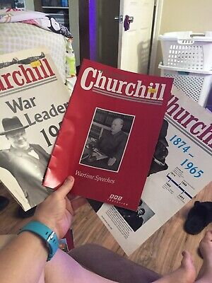Winston Churchill Wartime Speeches Magazine + 2 Foldout Posters