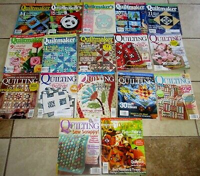 Lot 31 QUILTING QUILT Quilters Magazine American Patchwork Quiltmaker