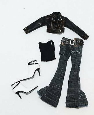 BRATZ DOLLZ JADE's ROCK ANGELZ OUTFIT for YOUR DOLL JEANS JACKET TOP BOOTS MGA F