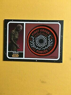 Topps Star Wars Journey to Rise of Skywalker Patch First Order Snoke PC-SFO Whit