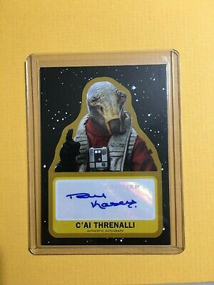 Topps Star Wars Journey to Rise of Skywalker Gold Autograph /25 Threnalli Kasey