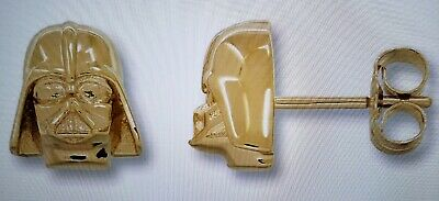 Star Wars Earrings Darth Vader 10k Solid Yellow Gold