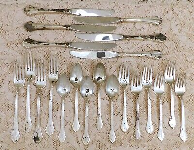 French Regency 1986 ~ 21 Pieces all SCRAP ~ Wallace Sterling ~ 687g ~ No mono