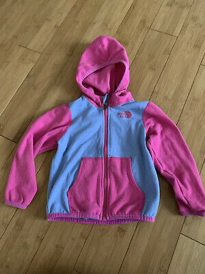 Northface Girls Fleece Zip Up Hoodie Pink & Purple Size 18-24 Months