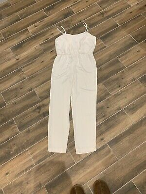 Topshop Ivory Cream Jumpsuit Strappy 12